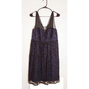 Torrid Lace Dress Black/Blue Size 16
